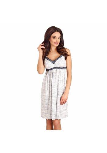 Zwangerschapsnachthemd / Voedingsnachthemd Grey