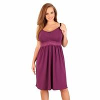 Zwangerschapsnachtjurk / Voedingsnachtjurk Purple Dream