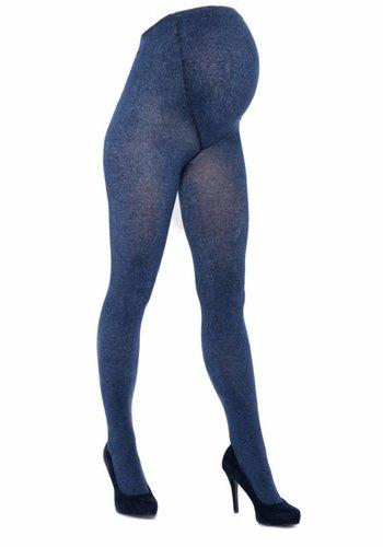 Positie Panty 300 Den Jeans Blauw