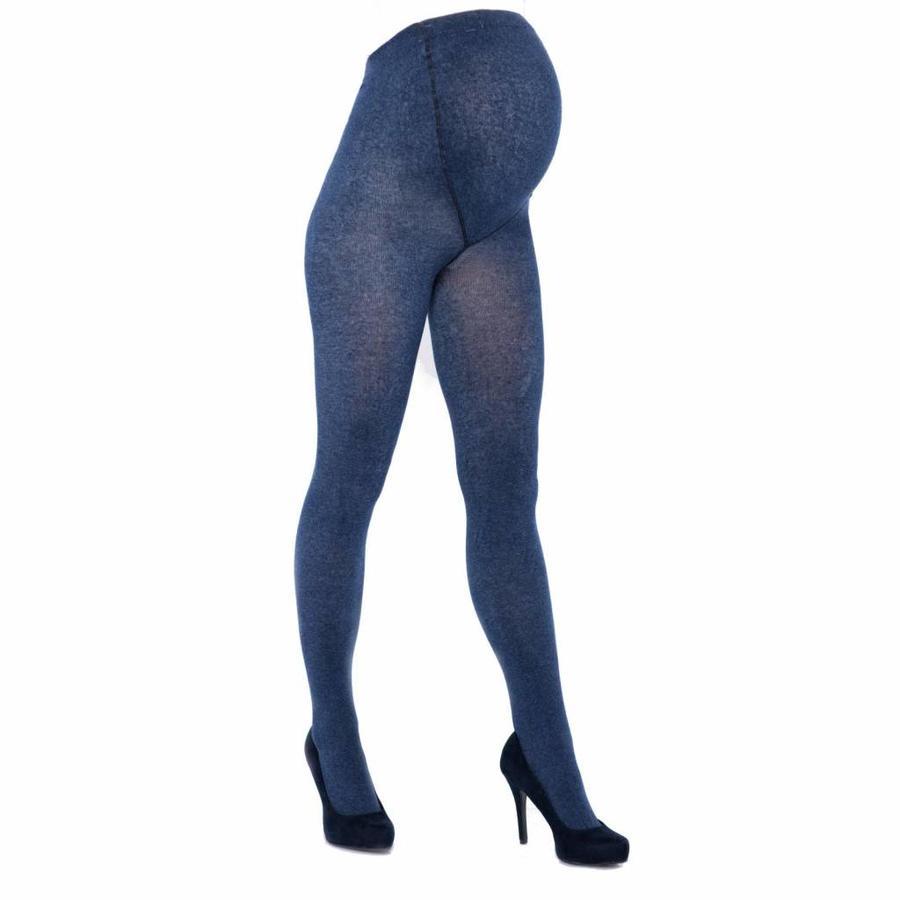 Zwangerschapspanty Positiepanty 300 Den Jeans Blauw