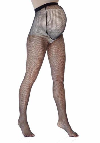 Positie Panty 20 Den Zwart Fishnet