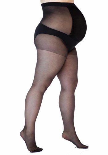Positie Panty Plussize 17 Den Zwart