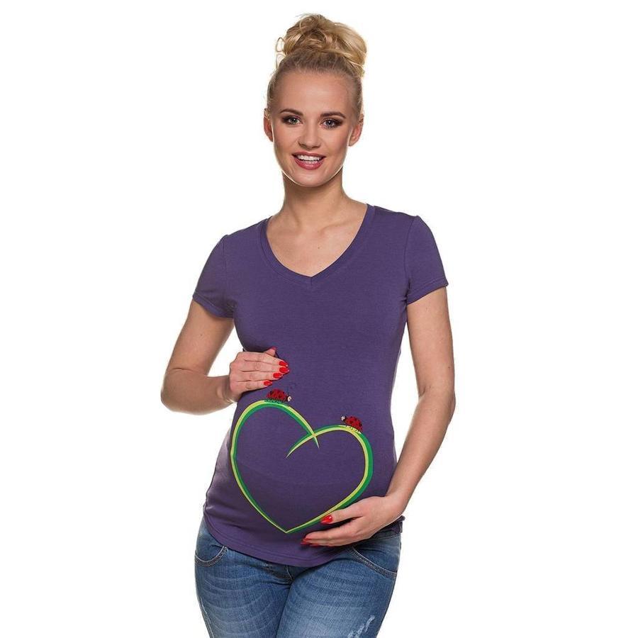 Zwangerschapsshirt Positieshirt Korte Mouw Ladybirds