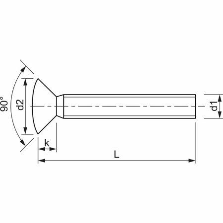 Stabilschraube M 4 x 42, Linsensenkkopf, Stahl verzinkt