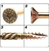 Förch Holzbauschrauben mit Bohrspitze FSK-TX25 GELB 4,5 X 50