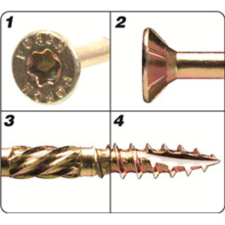 Förch Holzbauschrauben mit Bohrspitze FSK-TX25 GELB 4,5 X 40
