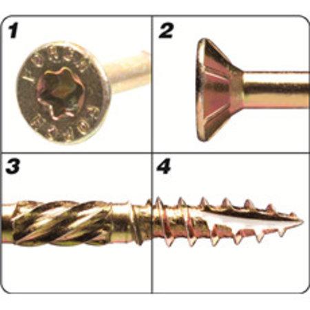 Förch Holzbauschrauben mit Bohrspitze FSK-TX25 GELB 4,5 X 80