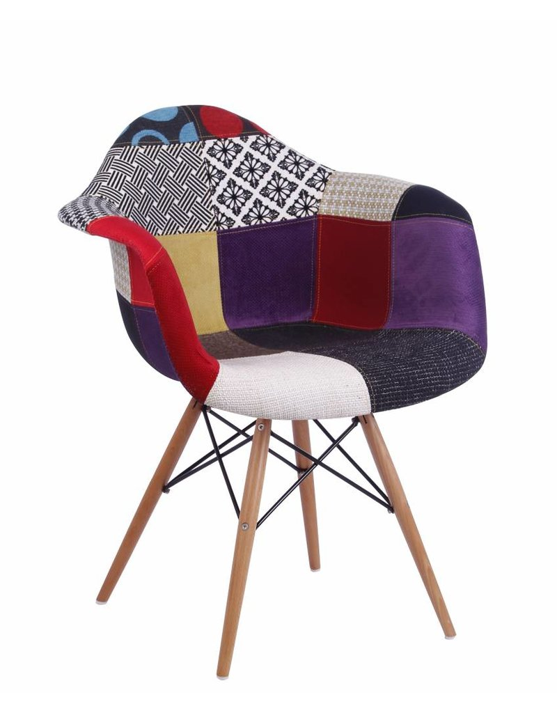 Patchwork chair patchwork wing back chair ebay hedgerow for Fauteuil eames patchwork
