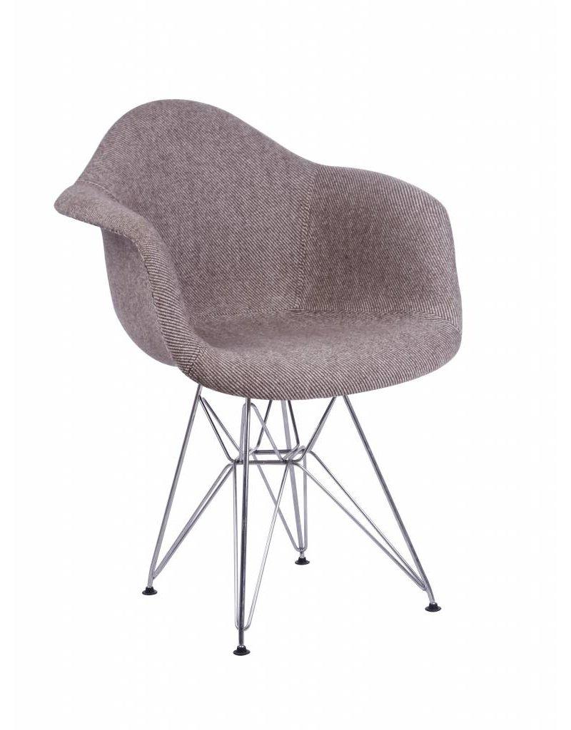 Dar eames stoel bekleed design seats design stoelen for Design eetkamerstoelen eames