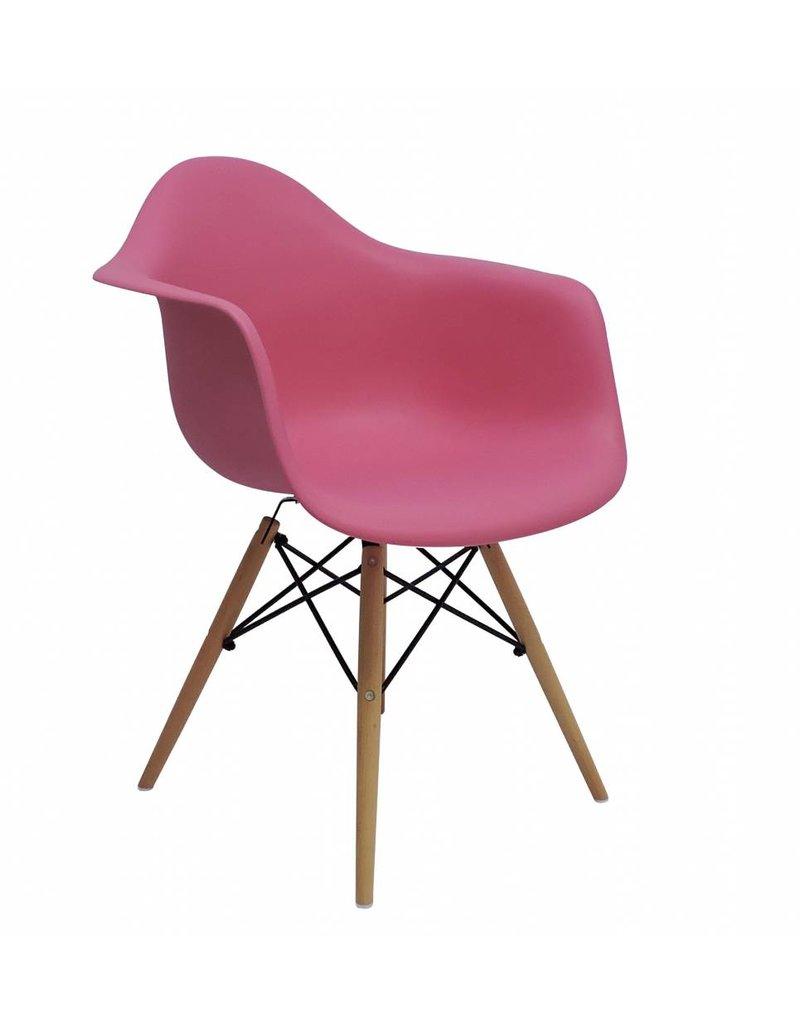 Daw eames design stoel roze design seats design for Design stoel 24