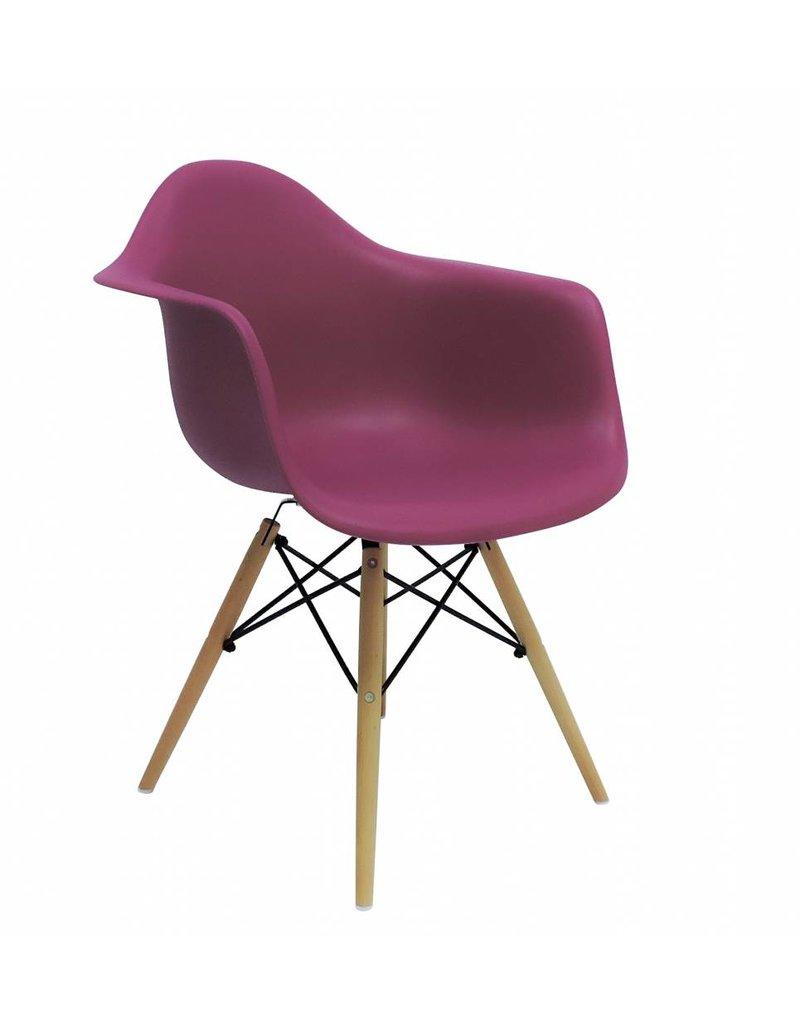 Daw eames design stoel roze design seats design for Design eetkamerstoelen eames