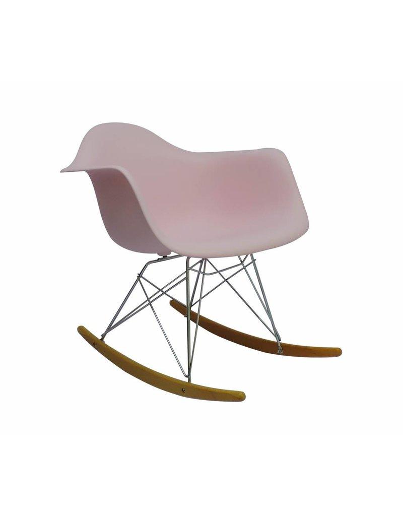 Rar eames design schommelstoel roze design seats for Design eetkamerstoelen eames