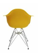 DAR Eames Design Stoel Geel