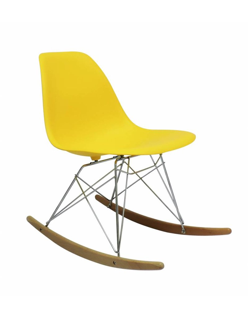 RSR Eames Design Rocking Chair Yellow
