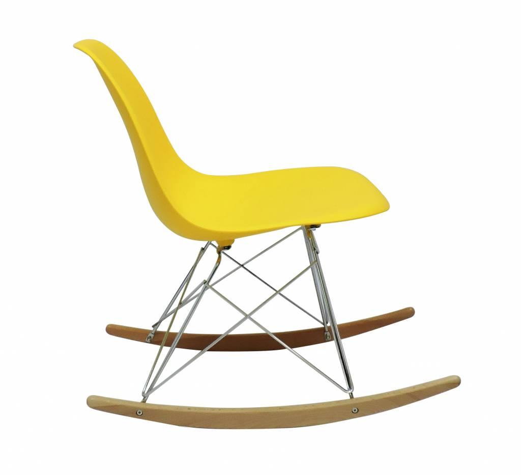 Rsr eames design schommelstoel geel design seats for Design eetkamerstoelen eames