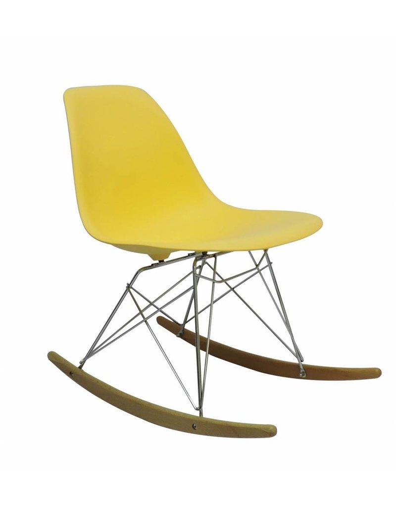 RSR Eames Design Schommelstoel Geel
