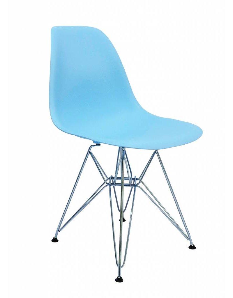 DSR Eames Design Eetkamerstoel Blauw
