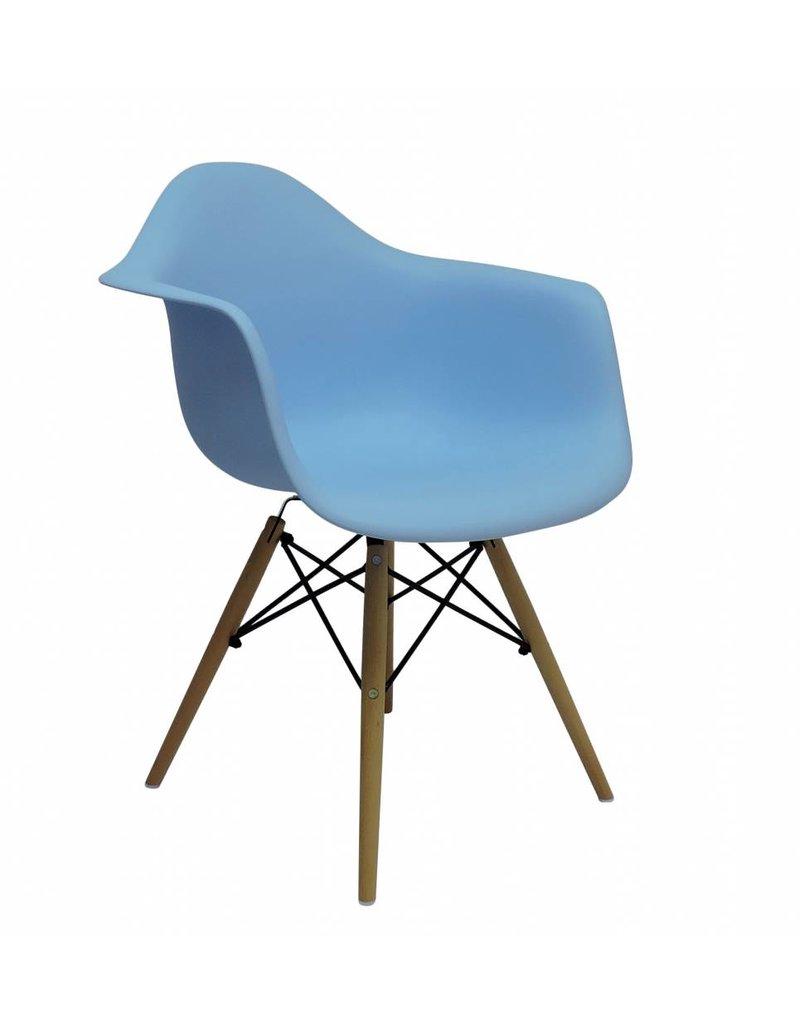 DAW Eames Design Stoel Blauw