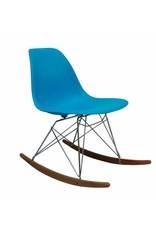 RSR Eames Design Schommelstoel Blauw