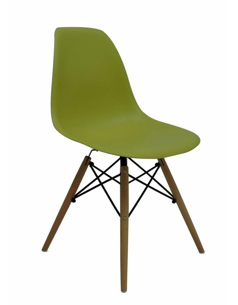 DSW Eames Design Eetkamerstoel Groen