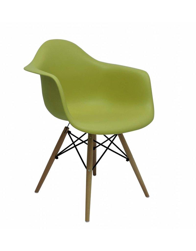 DAW Eames Design Stoel Groen