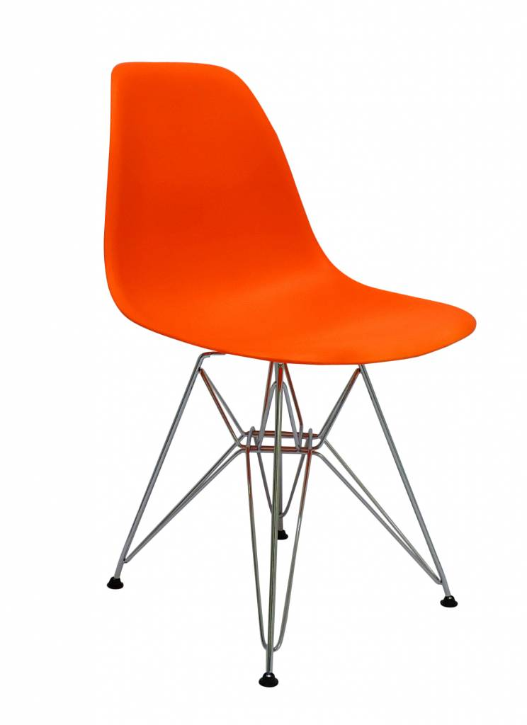 Dsr Eames Design Dining Chair Orange Seats Designer Chairs