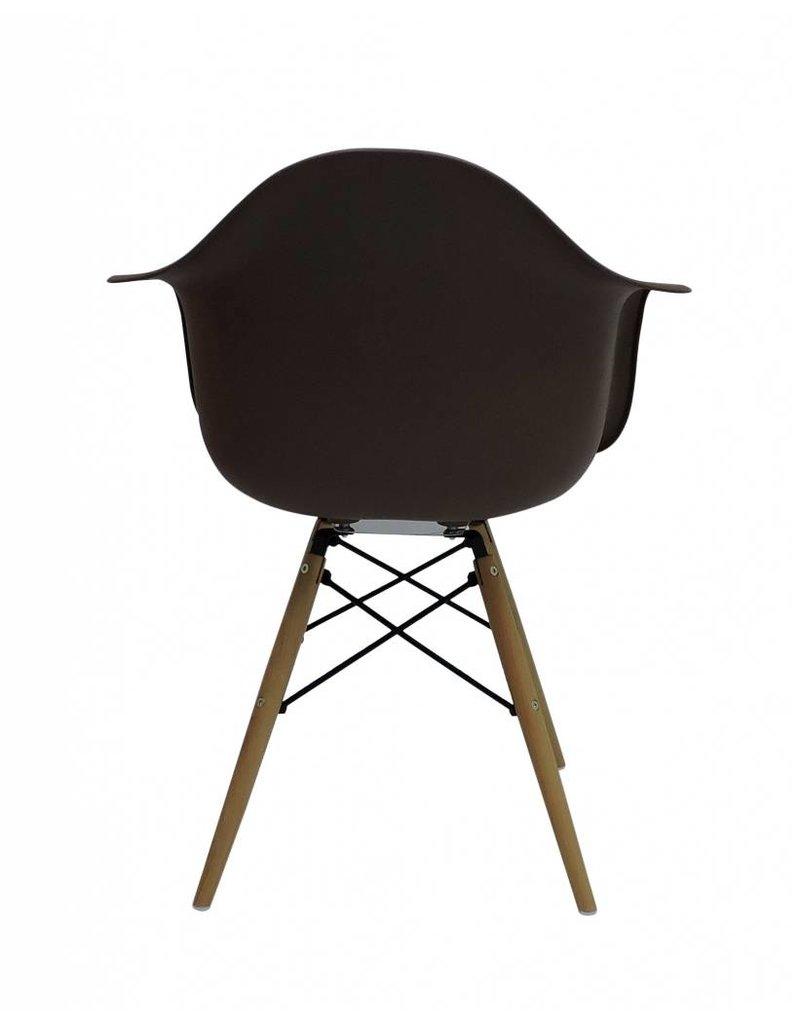 DAW Eames Design Stoel Bruin