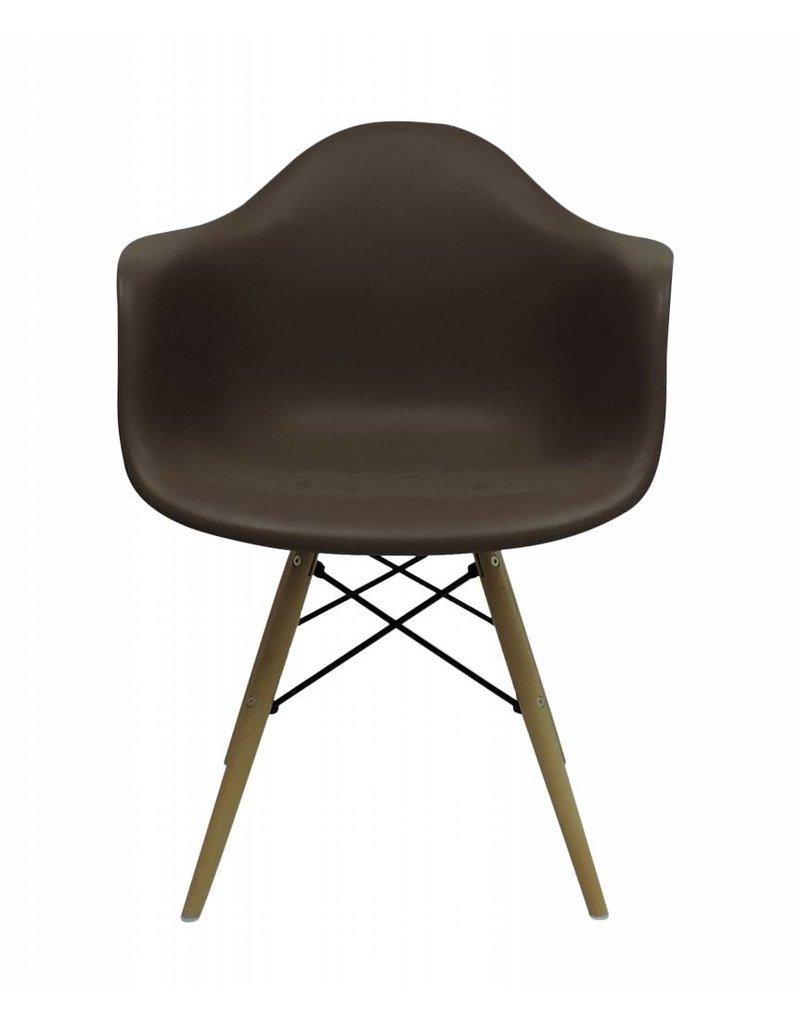 Daw eames design stoel bruin design seats design for Design eetkamerstoelen eames
