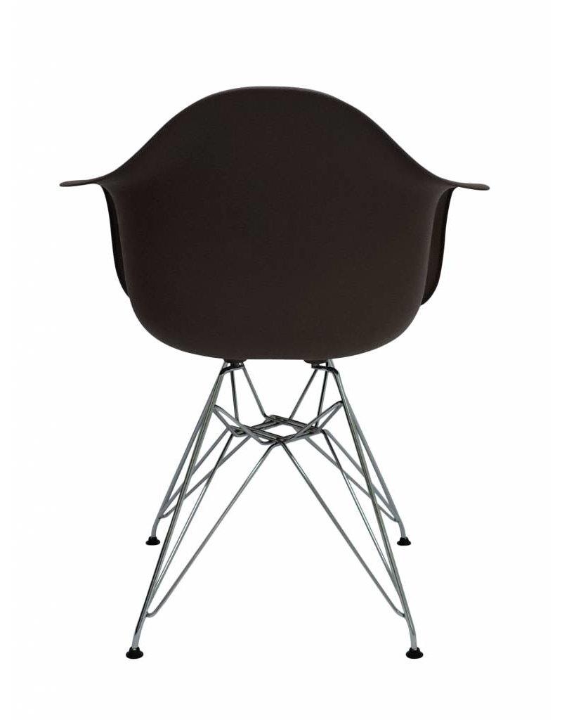 DAR Eames Design Stoel Bruin
