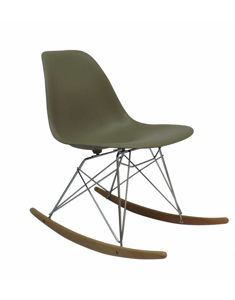 RSR Eames Design Rocking Chair Brown