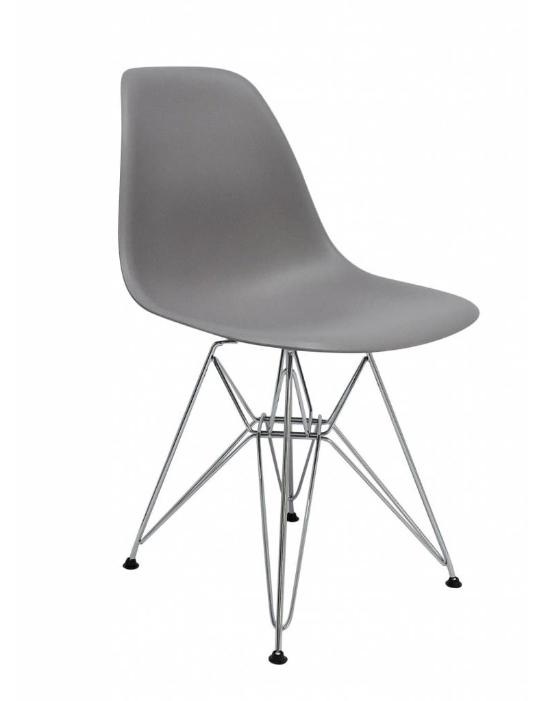 Dsr eames design eetkamerstoel grijs design seats for Design eetkamerstoelen eames