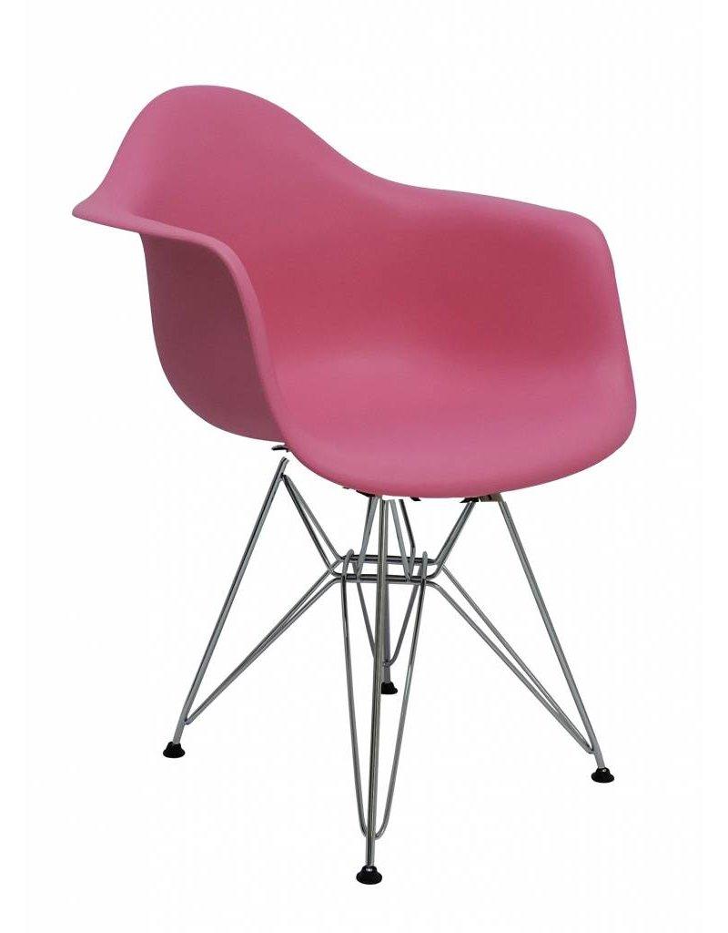Dar eames design stoel roze design seats design for Design stoel 24