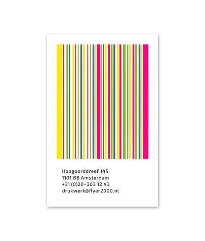 Visitekaartje 4/0 - 340 gr natuurkarton