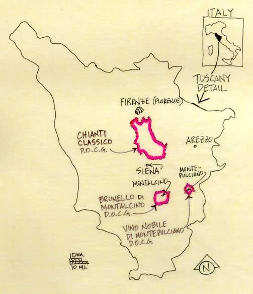 Brunello di Montalcino streek