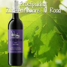 Proefpakket Zuid-Afrikaans rood 10 flessen