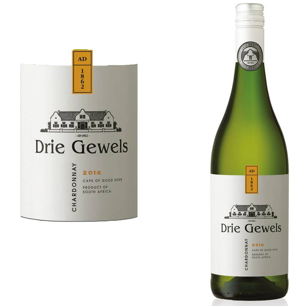 Drie Gewels Chardonnay Lightly Oaked