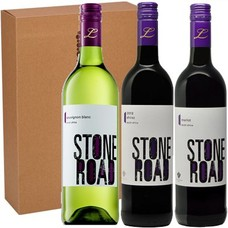 Geschenktrio Stone Road Sauvignon Blanc - Merlot - Cabernet Sauvignon