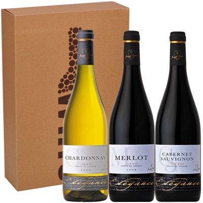 Geschenktrio Elegance Merlot - Elegance Chardonnay - Elegance Cabernet Sauvignon