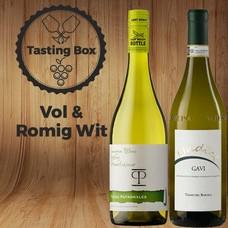 Tasting Box Vol & romige witte wijnen