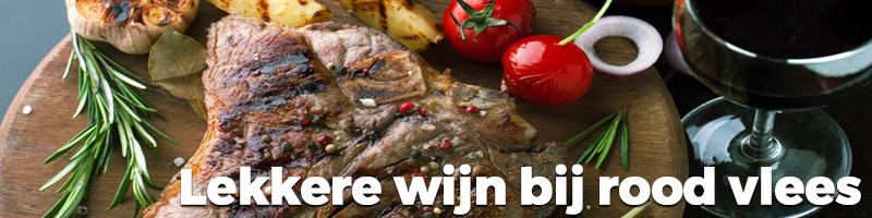 Wijnmarkt wijn rood vlees