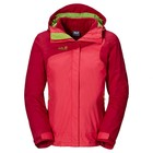 Jack Wolfskin Womens 3-in-1 Coat Red