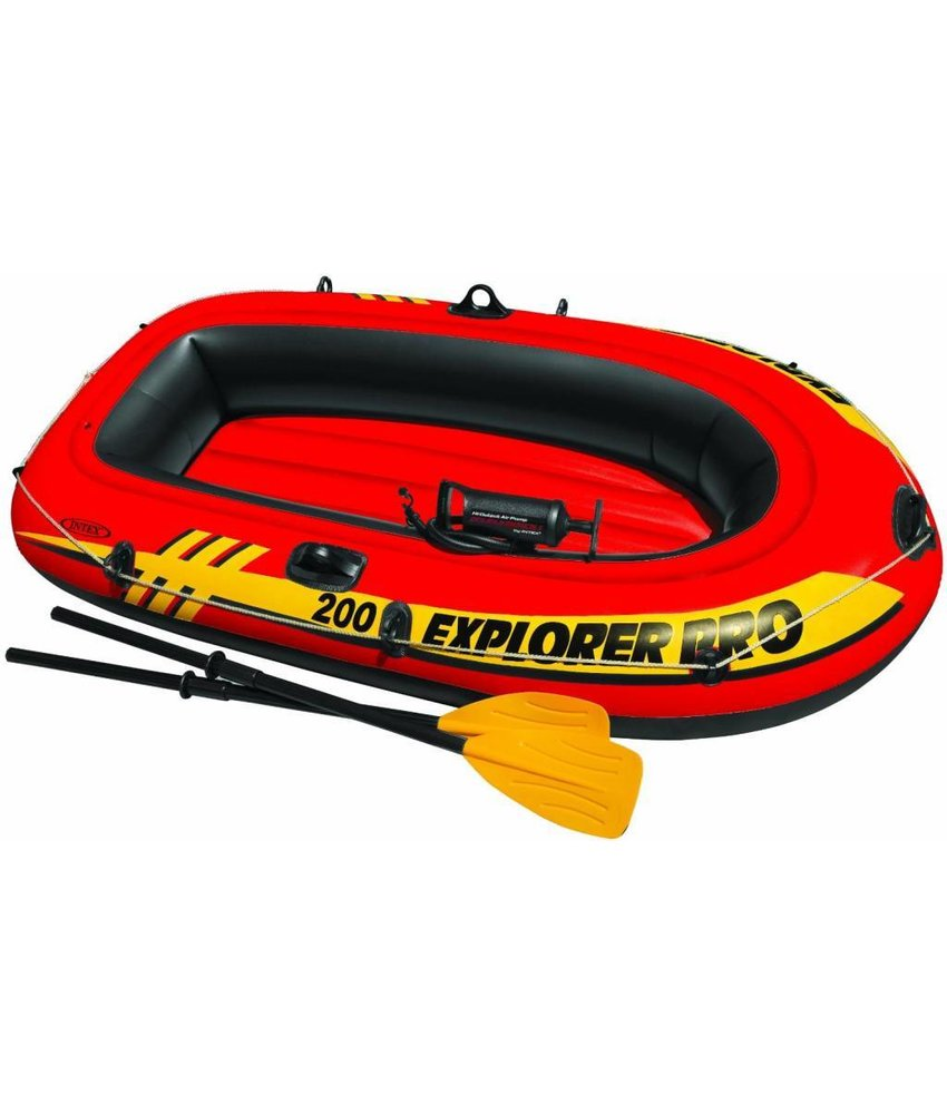 Intex Explorer Pro 200 - 2 pers. boot + peddels en pomp