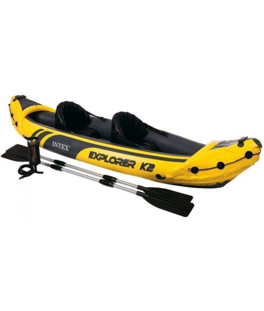 Intex Explorer K2 - 2 pers. kayak met peddel en pomp
