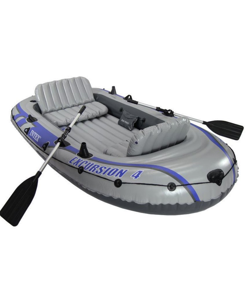 Intex Excursion 4 - 4 pers. boot met peddels en pomp