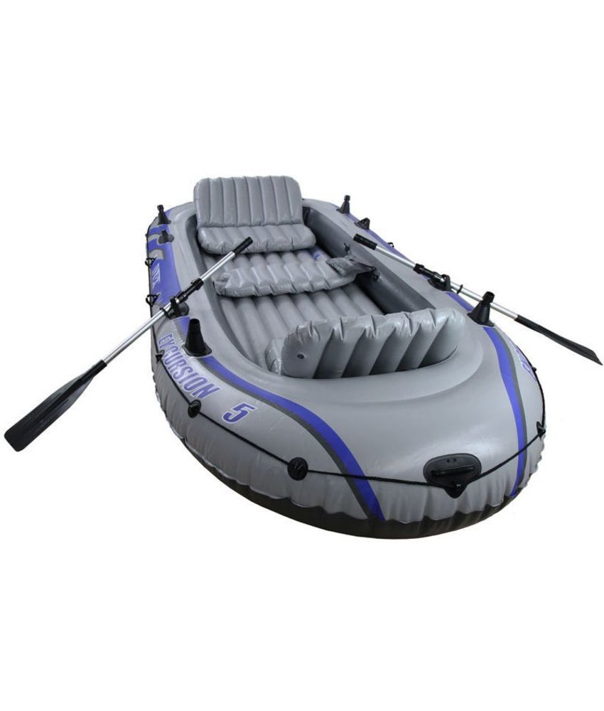Intex Excursion 5 - 5 pers. boot met peddels en pomp