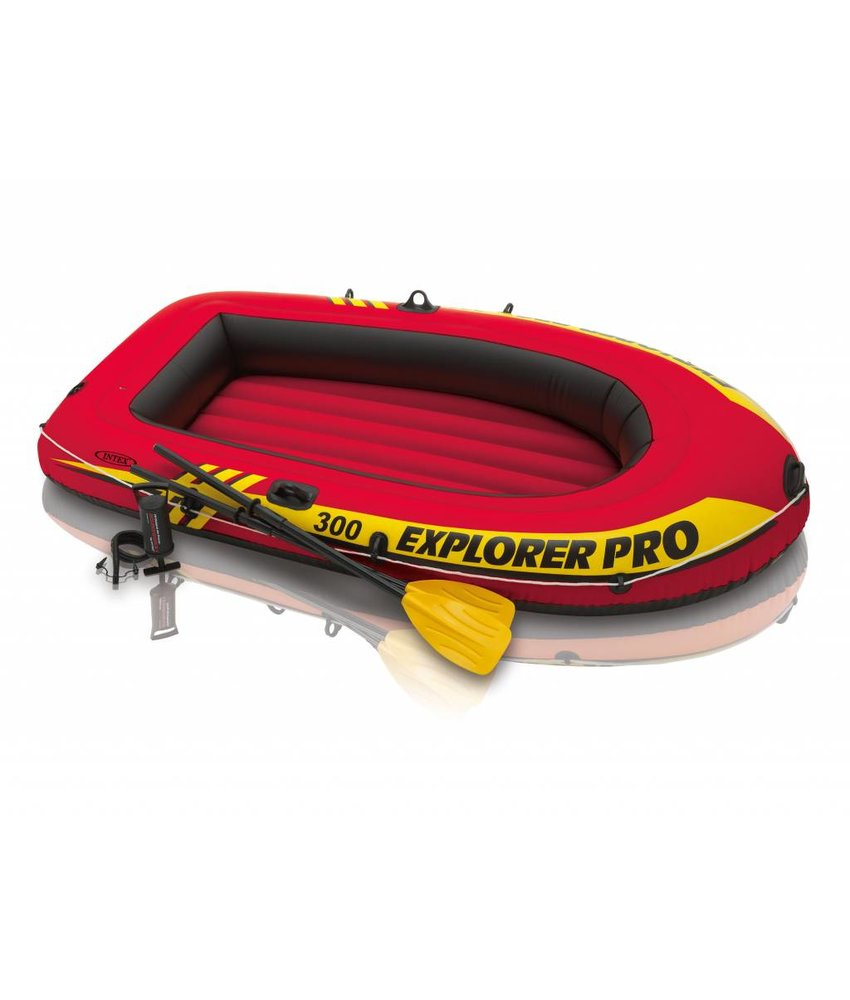 Intex Explorer Pro 300 - 3 pers. boot + peddels en pomp