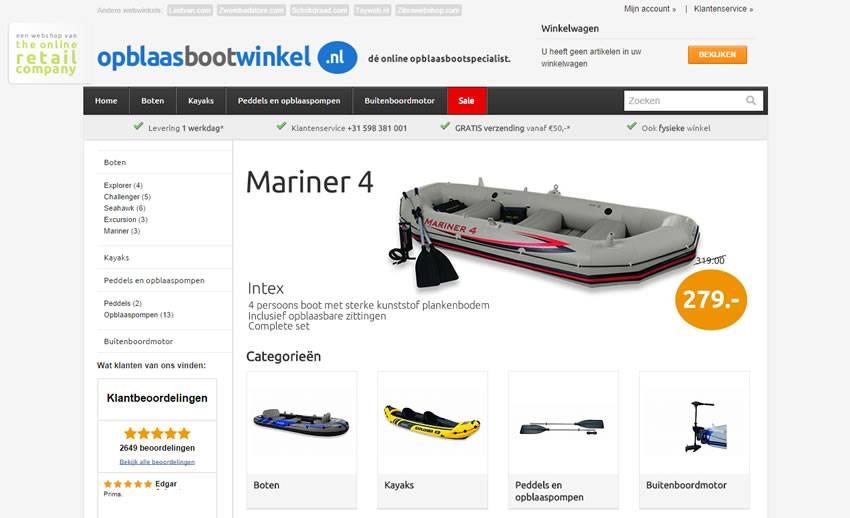 Opblaasbootwinkel.nl opent haar deuren!