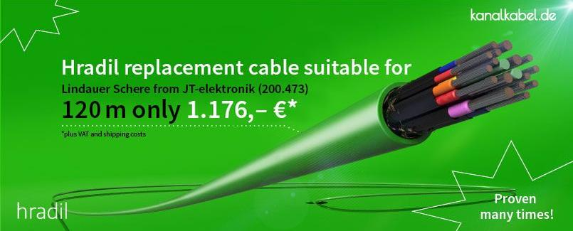 Hradil replacement cable suitable for Lindauer Schere from JT-elektronik