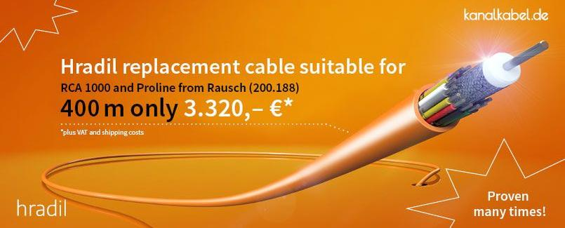 Hradil replacement cable suitable for RCA 1000 and Proline from Rausch