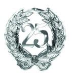 25 zilver decoratie 45x42cm plastic*